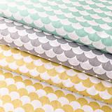 Textil - sivé vlnky; 100 % bavlna Francúzsko, šírka 160 cm, cena za 0,5 m - 9459672_