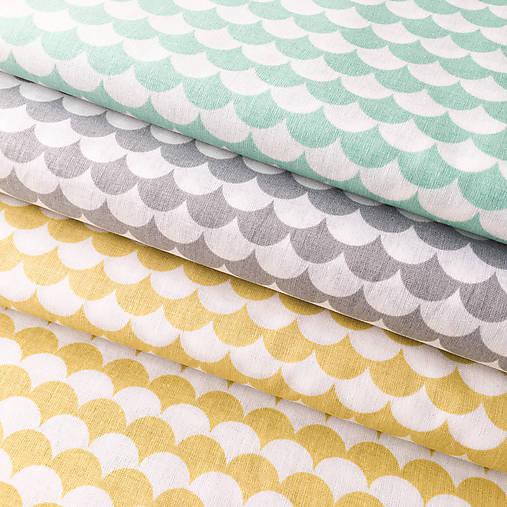 sivé vlnky; 100 % bavlna Francúzsko, šírka 160 cm, cena za 0,5 m