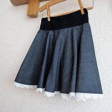 18b0aee7be5a Detské oblečenie - Riflová kolová sukýnka vel.104 - 9461566
