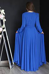 Šaty - Dlhé šaty na zvinovací štýl s dlhými rukávmi rôzne farby - 9459341_