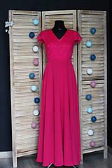 - Spoločenské šaty z krajky s polkruhovou sukňou rôzne farby  - 9459823_