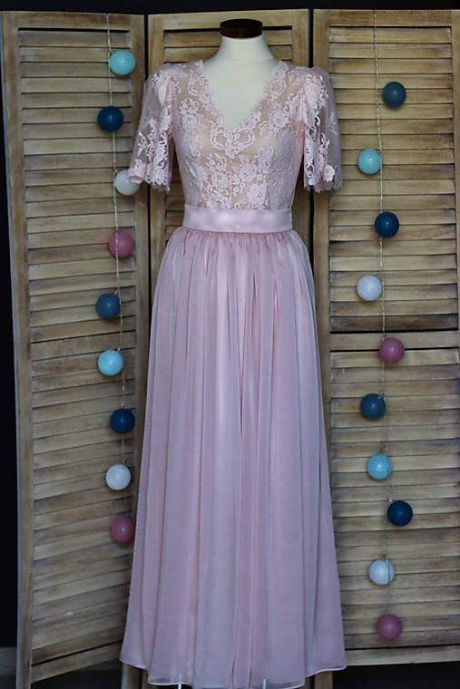 Spoločenské šaty s volánovými rukávmi   Dyona - SAShE.sk - Handmade Šaty 4140983675c