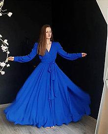 Šaty - Dlhé šaty na zvinovací štýl s dlhými rukávmi rôzne farby - 9459342  92021dd4d71