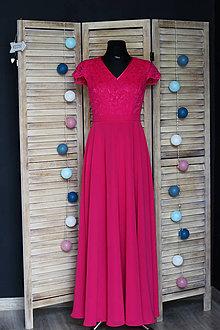 Šaty - Spoločenské šaty z krajky s polkruhovou sukňou rôzne farby - 9459823  b4dae2127f5