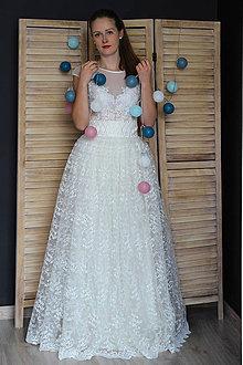 Šaty - Svadobné šaty s vyšívaným živôtikom a krajkovou sukňou rôzne vzory - 9459870_