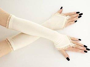 Rukavice - Dámské svadobné ivory rukavice 0025V - 9462145_