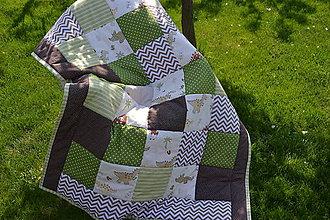 Textil - Patchworková deka do detskej izby - 9459669_