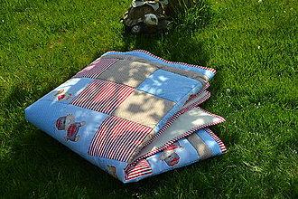 Textil - Patchworková deka - 9459728_