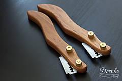 Pomôcky - Drevko - nožík na narezávanie chleba / slivka - 9461425_