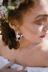 """Náušnice - Kvetinové náušnice """"láskou omámená"""" - 9460153_"""