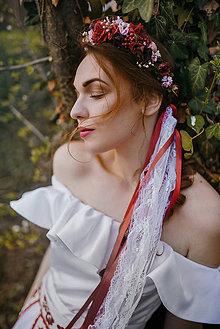 Ozdoby do vlasov - Kvetinový polvenček so závojom