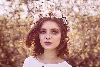 """Ozdoby do vlasov - Kvetinový venček """"na tebe záleží"""" - 9461539_"""