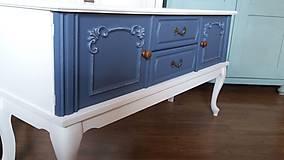 Nábytok - Komoda modro - biela - predaná :) - 9459593_