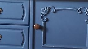 Nábytok - Komoda modro - biela - predaná :) - 9459596_