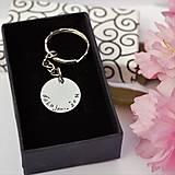 Kľúčenky - Kľúčenka s poďakovaním - okrúhla, alebo oválna zľava 4€ - 9459512_