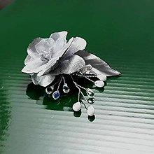 Ozdoby do vlasov - Ružička na hrebienku - 9461665_