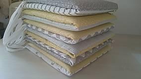 Textil - Súprava do postieľky - Newborn Yellow & Grey - 9465180_