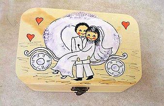 Darčeky pre svadobčanov - Svadobná šperkovnica-darček mladomanželom - 9463326_