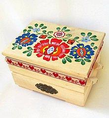 Krabičky - Drevená skrinka rozkladacia-ručne maľovaná - 9464803_