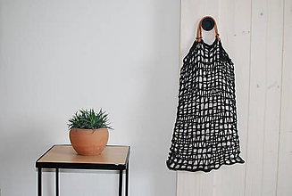 Nákupné tašky - Sieťka do ruky s koženými rúčkami