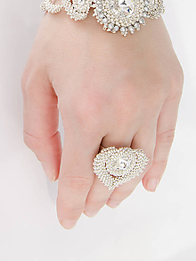 Prstene - prsteň SRDCE (crystal - Ag 925) - 9464611_