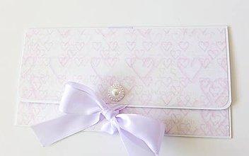 Papiernictvo - svadobná darčeková obálka na peniaze - 9462574_