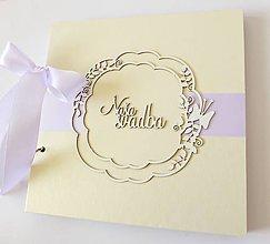Papiernictvo - album na fotografie svadobný / svadobná kniha hostí - 9463085_