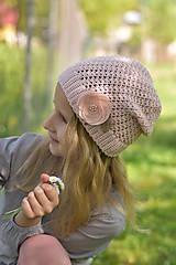 Detské čiapky - Púdrovo ružová čiapka - 9465421_