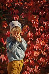 Detské oblečenie - Tunika HUGO dymovo zelená - 9465298_