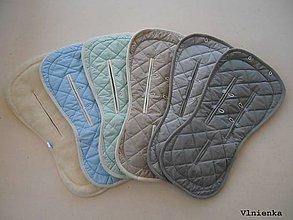 Textil - MERINO podložka do kočíka BUGABOO Bee / Buffalo/ Cameleon/ Donkey/ Joolz 100% WOOL Seat Liner Peppermint/ grey/ blue / sand/ breezy - 9463005_