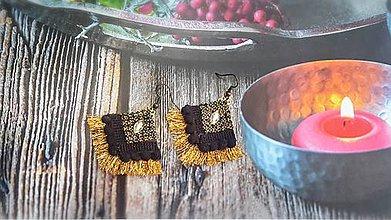 Náušnice - španielske strapcové zlaté - 9463413_