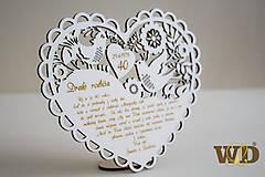 Dekorácie - Výročie svadby 40 - 9464696_