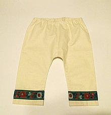 Detské oblečenie - folklórne chlapčenské nohavice krojové (so zelenou krojovkou veľkosť 86) - 9463909_