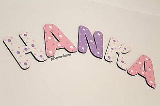 Tabuľky - HANKA meno pre dievča 6 cm - 9465023_