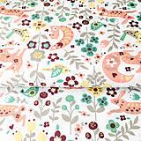 Textil - zázračný les; 100 % bavlna Francúzsko, šírka 160 cm, cena za 0,5 m - 9462518_