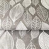 Textil - listy, hrubá 100 % bavlna, šírka 140 cm, cena za 0,5 m - 9463494_