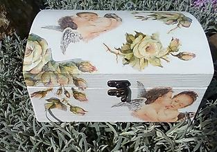 Krabičky - Nežné objatie - anjel a motýľ - krst, 1.sv.prijímanie, narodenie - 9464395_