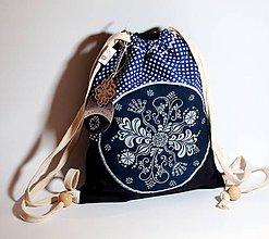 Batohy - Mini batoh MODROTLAČ modrý - 9465374_