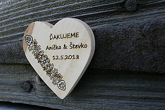 Darčeky pre svadobčanov - magnetka drevená-svadobná3 - 9463962_