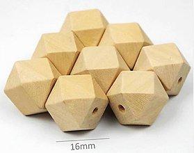 Korálky - Korálka drevená hranatá - 9463887_