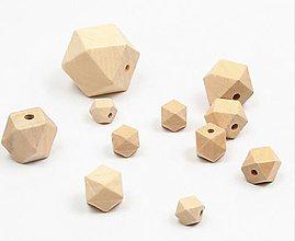 Korálky - Korálka drevená hranatá  (KD102 1,2 cm) - 9463896_
