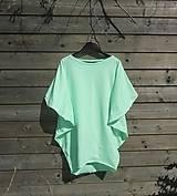 Tuniky - Tunika - žiarivá mint zelená - 9464017_