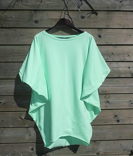 Tunika - žiarivá mint zelená
