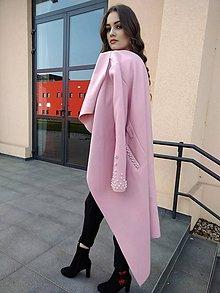 Kabáty - kabát - marhuľkový s perličkami - 9464117_