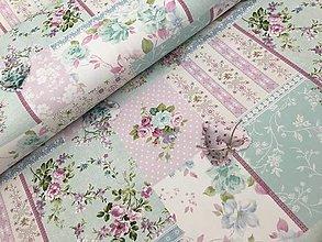 Textil - 100% kvalitna bavlna dovoz Francuzsko prekrasne jemne farby - 9464370_