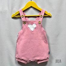 Detské oblečenie - Ružové opaľovačky so srdiečkom - 9465213_