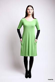 Šaty - šaty VIKY -dvoubarevné, pouzdrové s kapsami - 9464189_