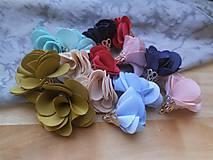 Polotovary - Textilné kvety, filigrán - pár (Béžová) - 9462677_