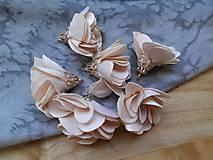 - Textilné kvety, filigrán - pár (Béžová) - 9462697_
