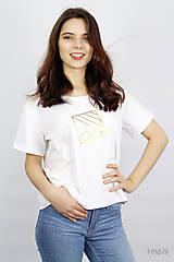 Tričká - Dámske tričko IO14 - 9463371_